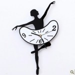 Acrylic-artistic-wall-clock-creative-clock-sitting-room-decoration-dancers-wall-clock-mute-clock-YP1166