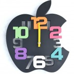 Mute-Apple-shape-wall-clock-Creative-personality-3D-digital-fashion-beautiful-wall-clocks-for-children-s